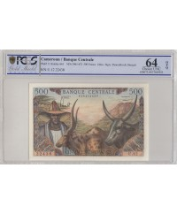 500 Francs Elevage, Agriculture - 1962 - PCGS 64