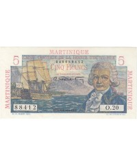 Martinique 5 Francs, Bougainville - 1946 Série O.20