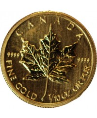 CANADA, FEUILLE D'ERABLE - 1/10 ONCE OR 2013