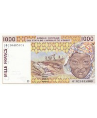 1000 Francs, Mali - Arachide - Masque - 2001