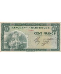 Martinique 100 Francs, Agriculture - 1942 Série A.65