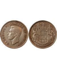 CANADA, GEORGES VI - 50 CENTS ARGENT 1944