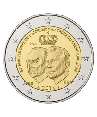 2 Euros Commémo. LUXEMBOURG 2014 - Grand-Duc Jean