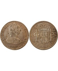 MEXIQUE, CHARLES III - 2 REALES ARGENT 1782 FF MEXICO
