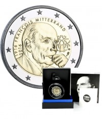 2 Euros Commémo. FRANCE BE 2016 - François Mitterrand