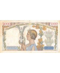 FRANCE, VICTOIRE Type 1934, 5000 FRANCS 11.07.1935