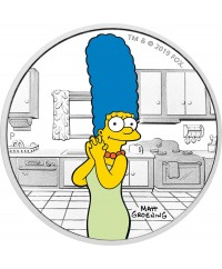 Marge Simpson - 1 Once Argent Couleur TUVALU 2019
