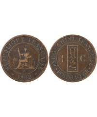 INDOCHINE FRANCAISE - 1 CENTIME 1892 A PARIS