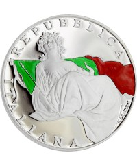 5 Euros Argent Couleur ITALIE 2018 BE - 70 ans Constitution Italienne