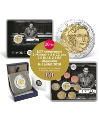 Simone Veil - LOT Miniset BU + BE + BU + UNC FRANCE 2018