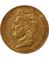 LOUIS PHILIPPE - 20 FRANCS OR 1845 W LILLE