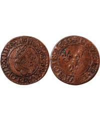 LOUIS XIII - DOUBLE TOURNOIS 1615 T NANTES