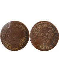 LOUIS XIII - DOUBLE TOURNOIS 1643 A PARIS