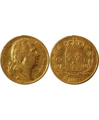 LOUIS XVIII - 20 FRANCS OR 1818 W LILLE