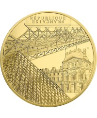 Le Louvre et le Pont des Arts - 50 Euros Or BE 2018 FRANCE (MDP)