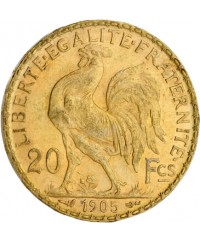 20 Francs Coq OR 1905 France