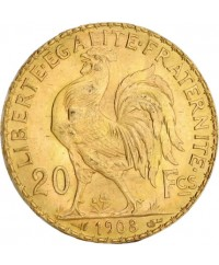 20 Francs Coq OR 1908 France