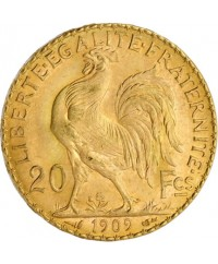 20 Francs Coq OR 1909 France