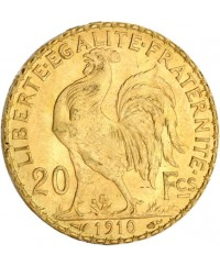 20 Francs Coq OR 1910 France