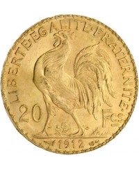 20 Francs Coq OR 1912 France