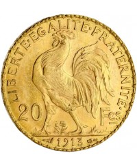 20 Francs Coq OR 1913 France