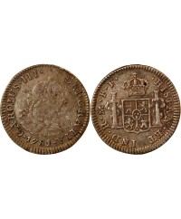 MEXIQUE, CHARLES III - 1/2 REAL ARGENT 1781 FF