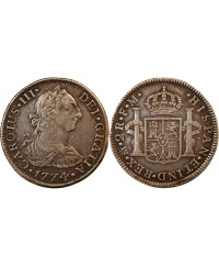 MEXIQUE, CHARLES III - 2 REALES ARGENT 1774 FM