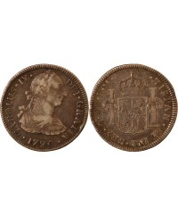 MEXIQUE, CHARLES IV - 2 REALES ARGENT 1790