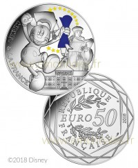 50 Euros Argent COULEUR France 2018 - Mickey Etudiant, Mickey et la France (Vague 1)