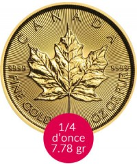 Maple Leaf - 1/4Maple Leaf - 1/4 Oz Or CANADA 2019 Oz Or CANADA 2017