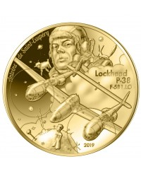 P-38 et Antoine de Saint Exupéry - 50 Euros Or BE FRANCE 2019 (MDP)