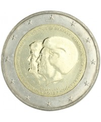 "2 Euros Commémorative - Pays Bas 2013 ""Reine Beatrix et Prince Willem, abdication"""