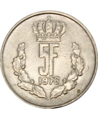 5 Francs LUXEMBOURG 1976