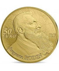 50 Euros OR BE 2017 FRANCE - Auguste Rodin, la Sculpture (MDP)