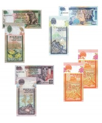 Lot 4 billets 10 à 100 Roupies SRI-LANKA 2005 à 2006