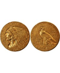 USA, INDIEN - 2,5 DOLLARS OR 1913