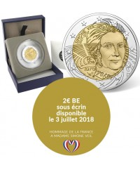 2 Euros Commémo. BE France 2018 - Simone Veil