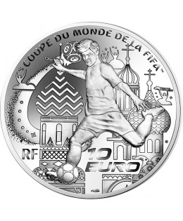 COUPE DU MONDE FOOTBALL FIFA RUSSIE 10 Euros Argent BE FRANCE 2018 (MDP)