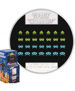 40 ans Space Invaders - 2 Dollars Argent Niue 2018