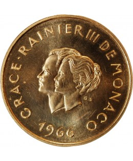 MONACO, GRACE RAINIER III - 200 FRANCS OR 1966