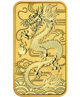 100 Dollars OR Dragon Australie 1 Oz Rectangle 2018