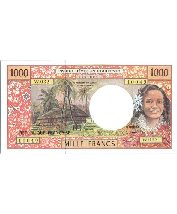 Polynésie Fr. 1000 Francs Tahitienne - Hibiscus - 2004 alph W.32