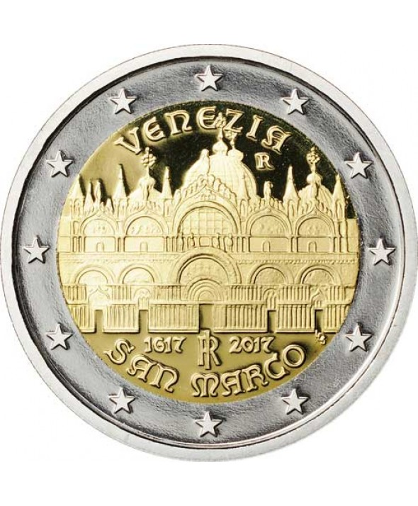 2 Euros Commémo. ITALIE 2017 BE - Basilique Saint-Marc de Venise