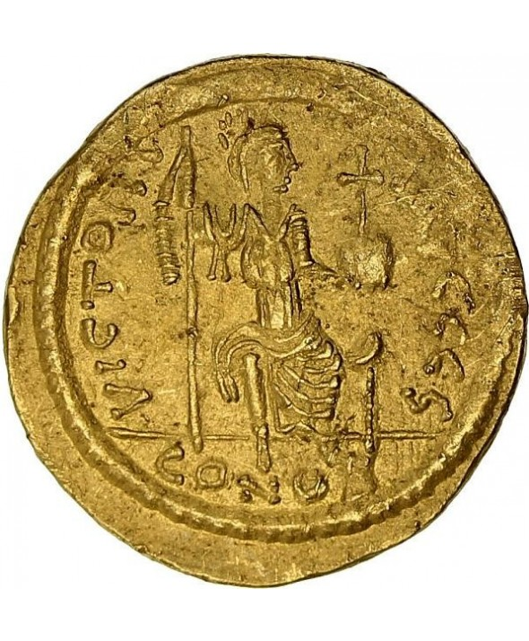 1 Solidus, Justin II (565-578) - Constantinople assise