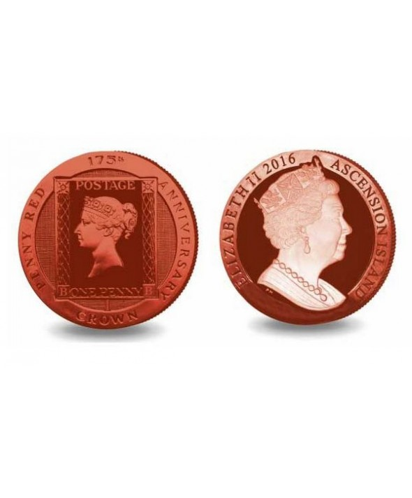 Ile de l'Ascension One Crown - Red Penny - Colorisée - 2016