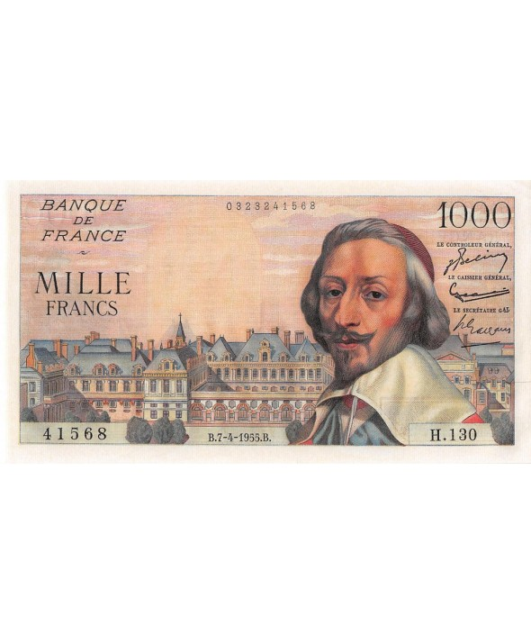 1000 FRANCS RICHELIEU 07.04.1955