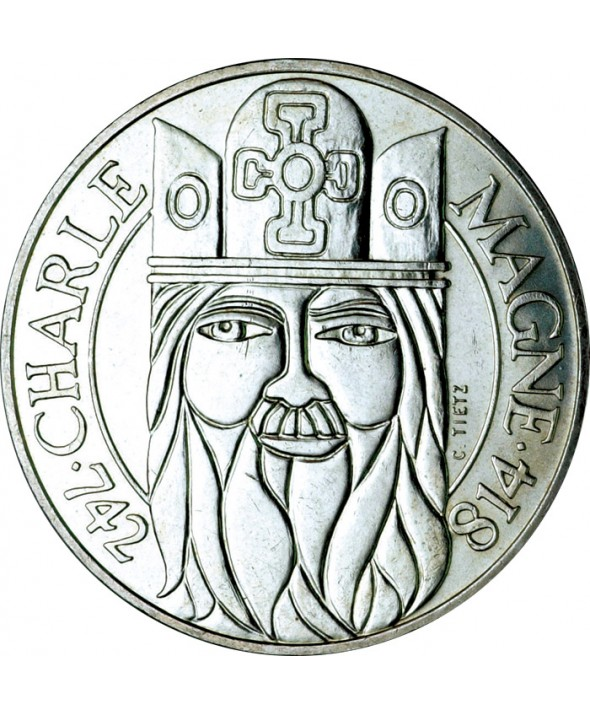 100 Francs Commémo. Charlemagne FRANCE 1990 (SUP)