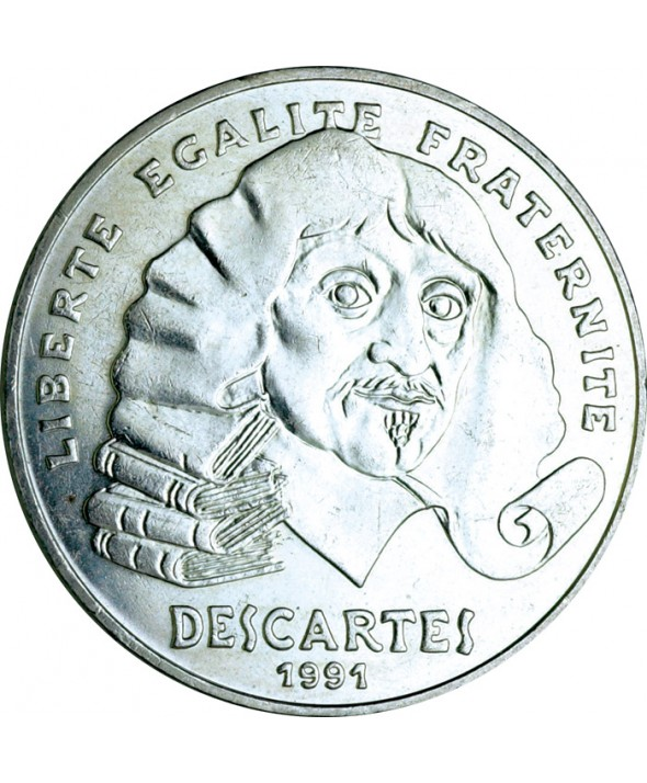 100 Francs Commémo. Descartes FRANCE 1991 (SUP)