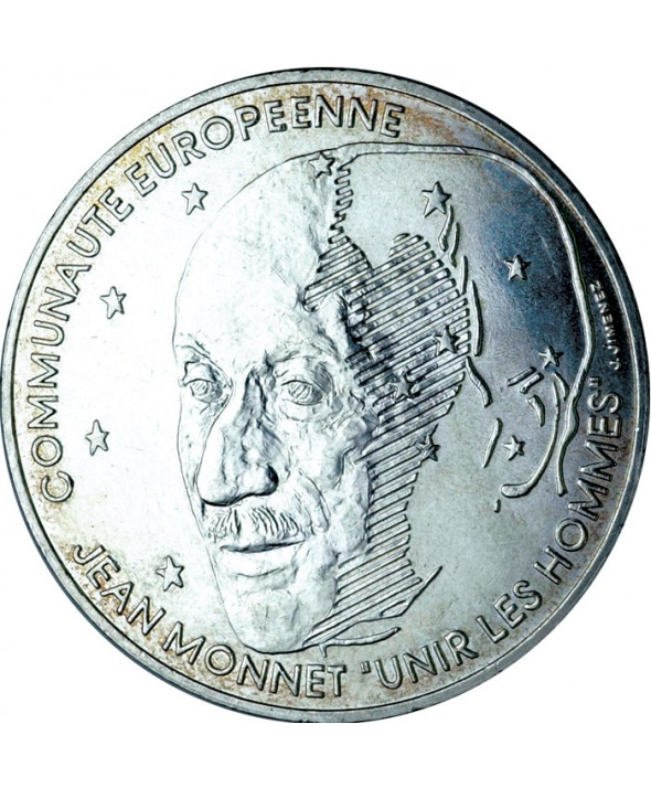 100 Francs Commémo. Jean Monnet FRANCE 1992 (SUP)