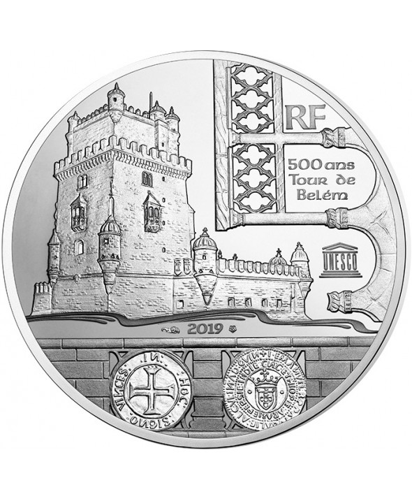 Tour de Belém et Vasco de Gama - Unesco - 10 Euros Argent BE 2019 FRANCE (MDP)